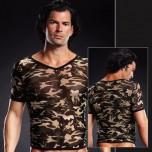 Сетчатая футболка камуфляж