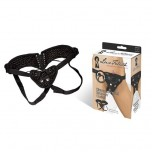 Трусики-джоки со шнуровкой с креплением для страпона BLK